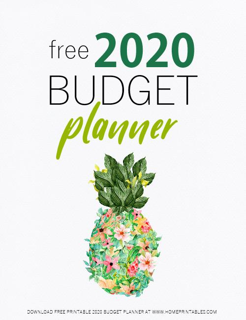 free printable 2020 budget planner