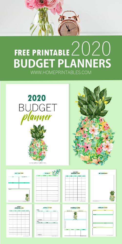 budget planner 2020 free printable