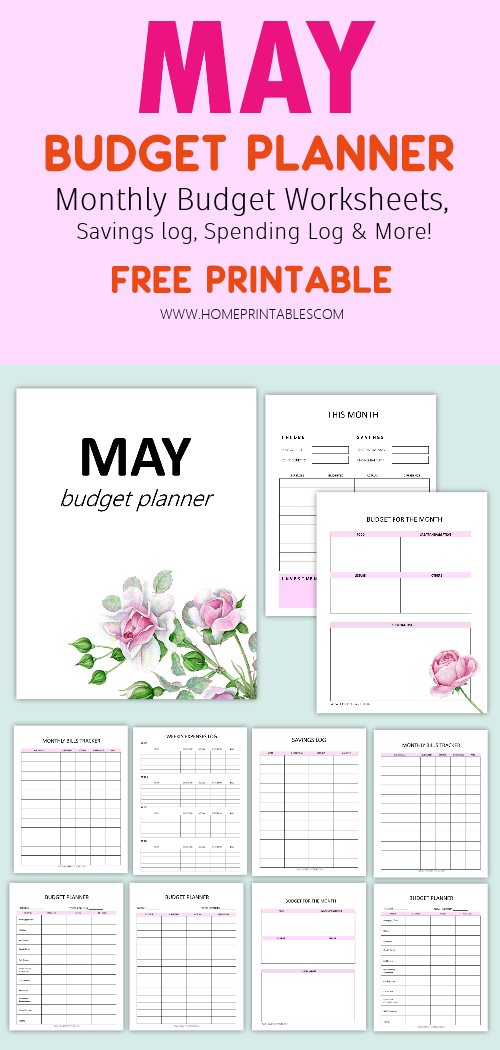 May budget planner printables