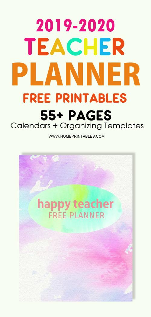 teacher planner free printable 2019-2020