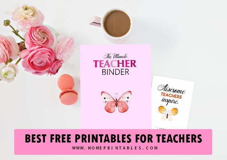 teacher binder free printables