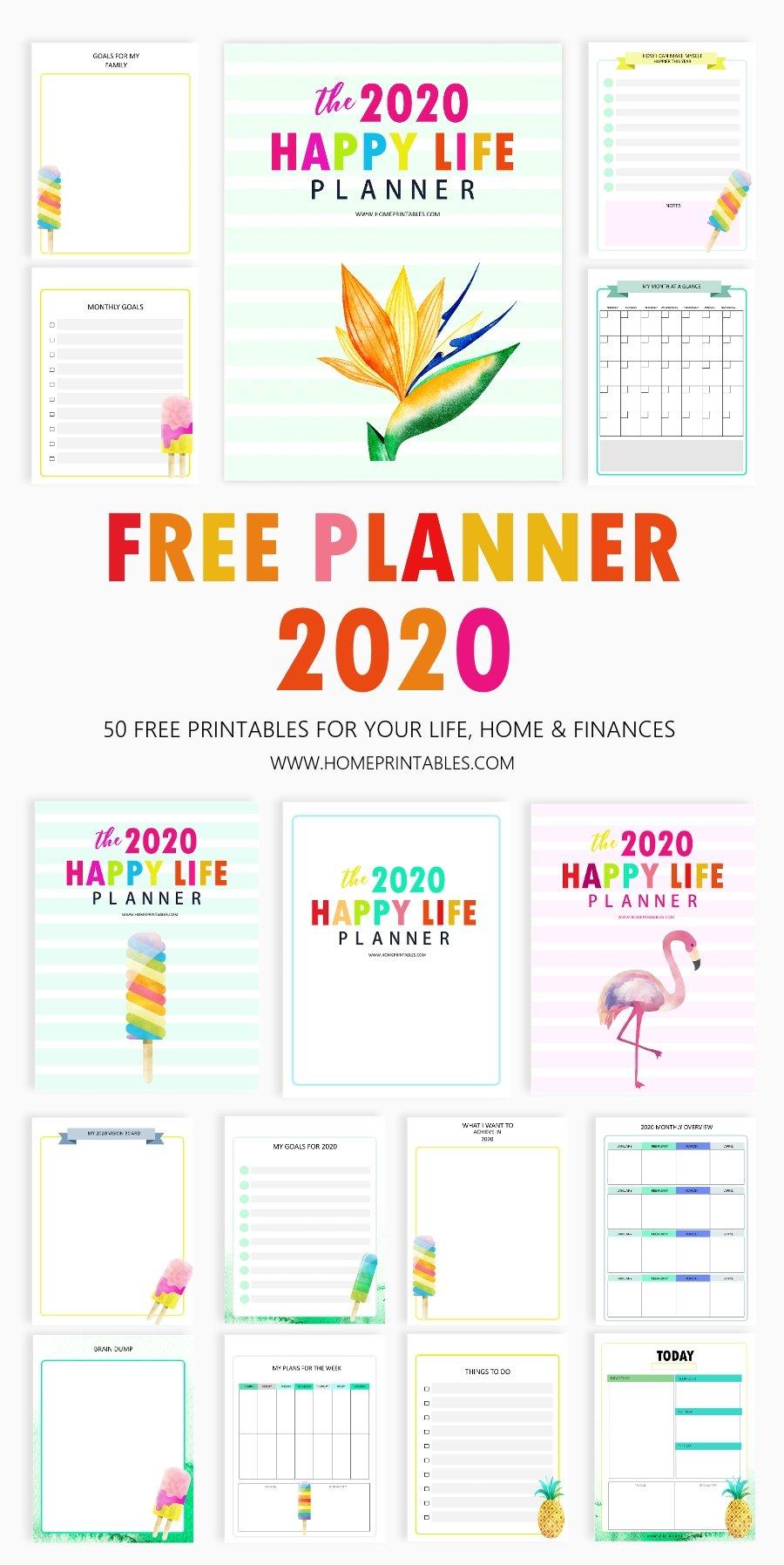 free printable 2020 planner in pdf