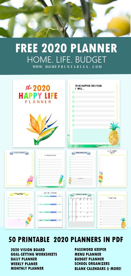 free planner 2020