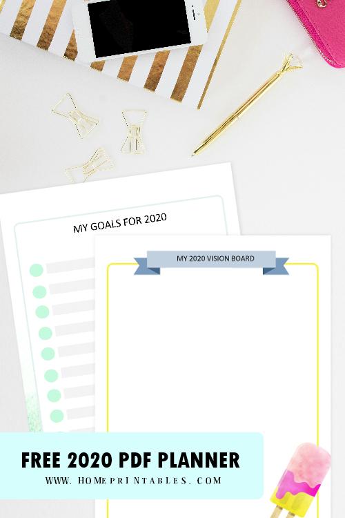 goal-setting planner 2020