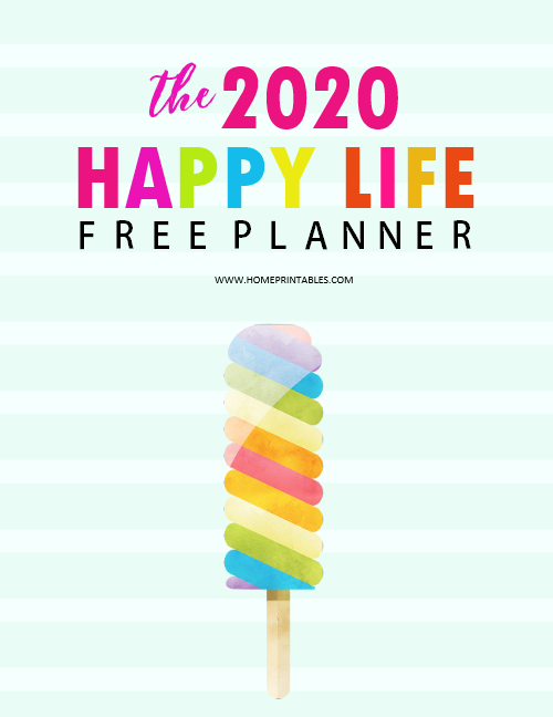 2020 planner free printable