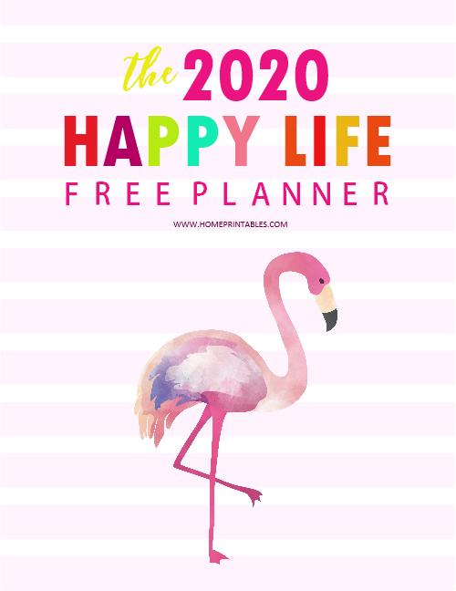 free printable 2020 planner pdf
