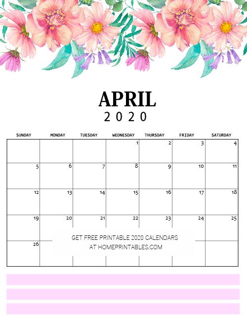 April calendar pdf