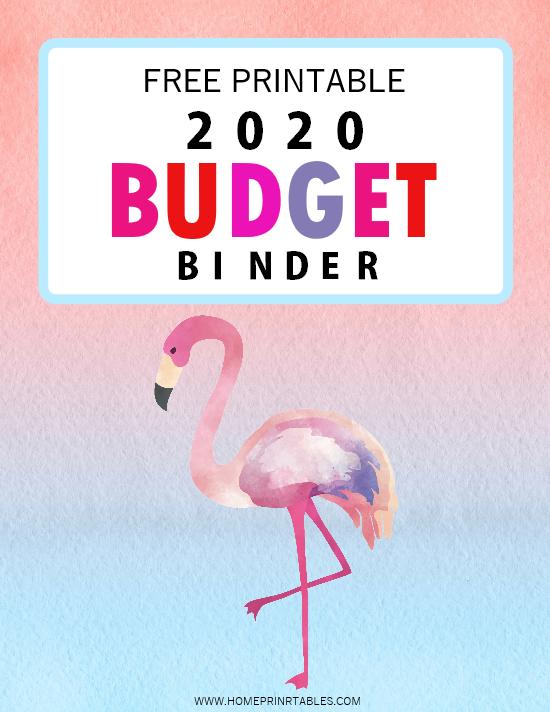 free printable 2020 budget binder