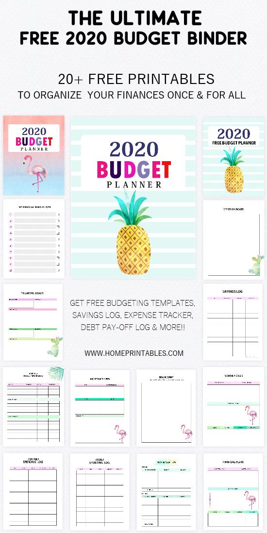 budget binder 2020 printable free