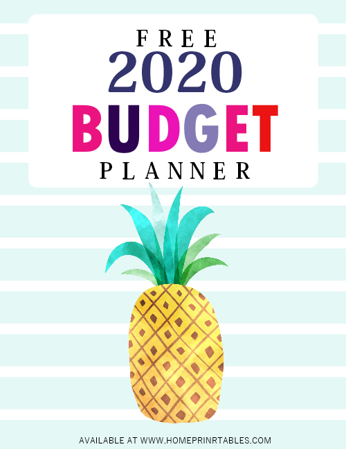 budget planner 2020 free printables
