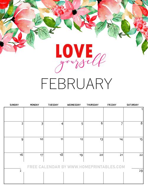 February 2020 Valentine Calendar