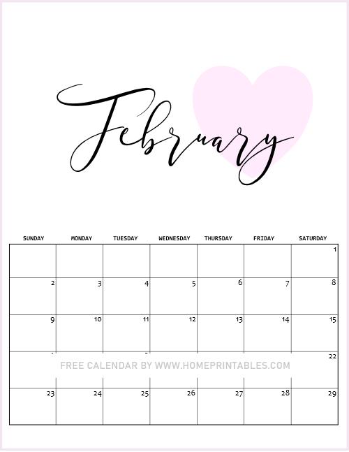 Valentine Calendar 2020