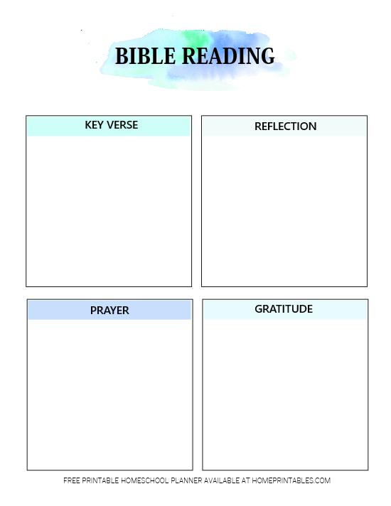 Bible Reading Planner Free Printable
