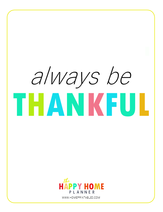 Gratitude poster free printable
