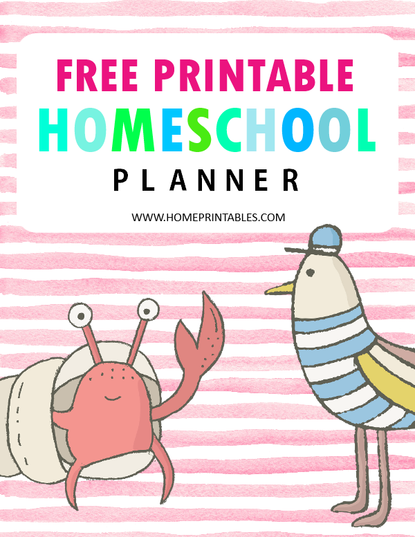 Homeschool Planner Free Printable