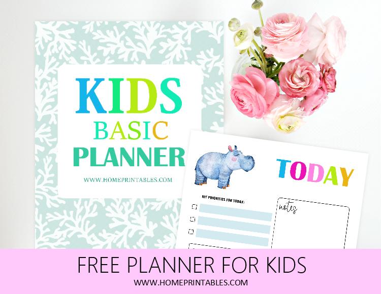 kids planner free printable