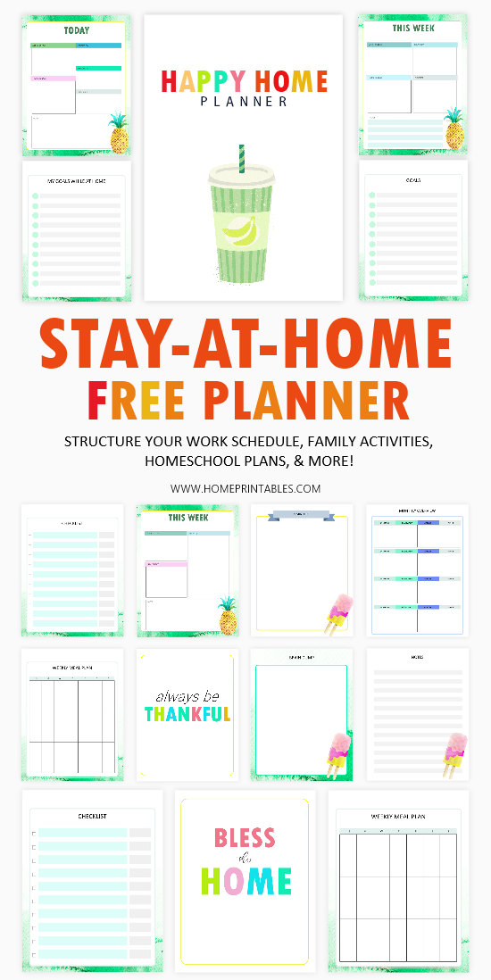 Stay-at-Home Planner free printable
