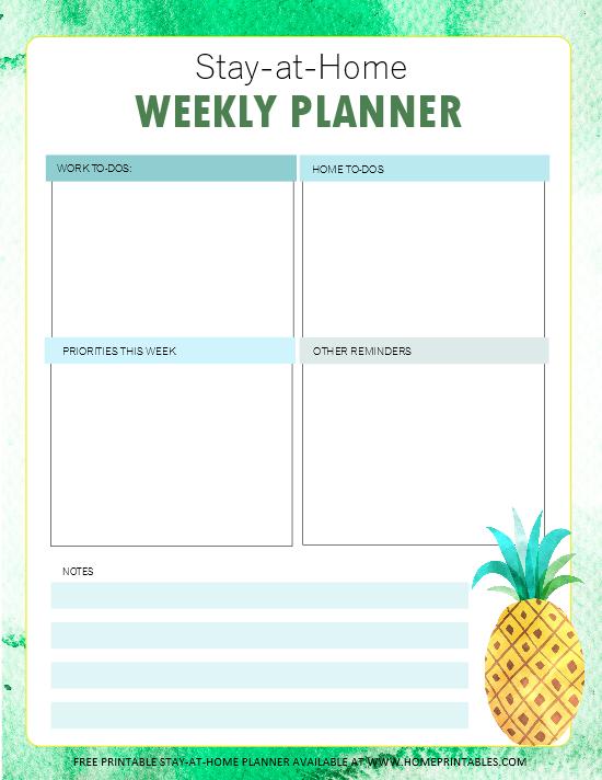 Home Binder Weekly Planner