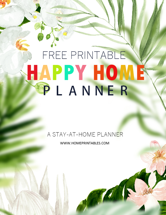 free printable Stay-at-Home Planner