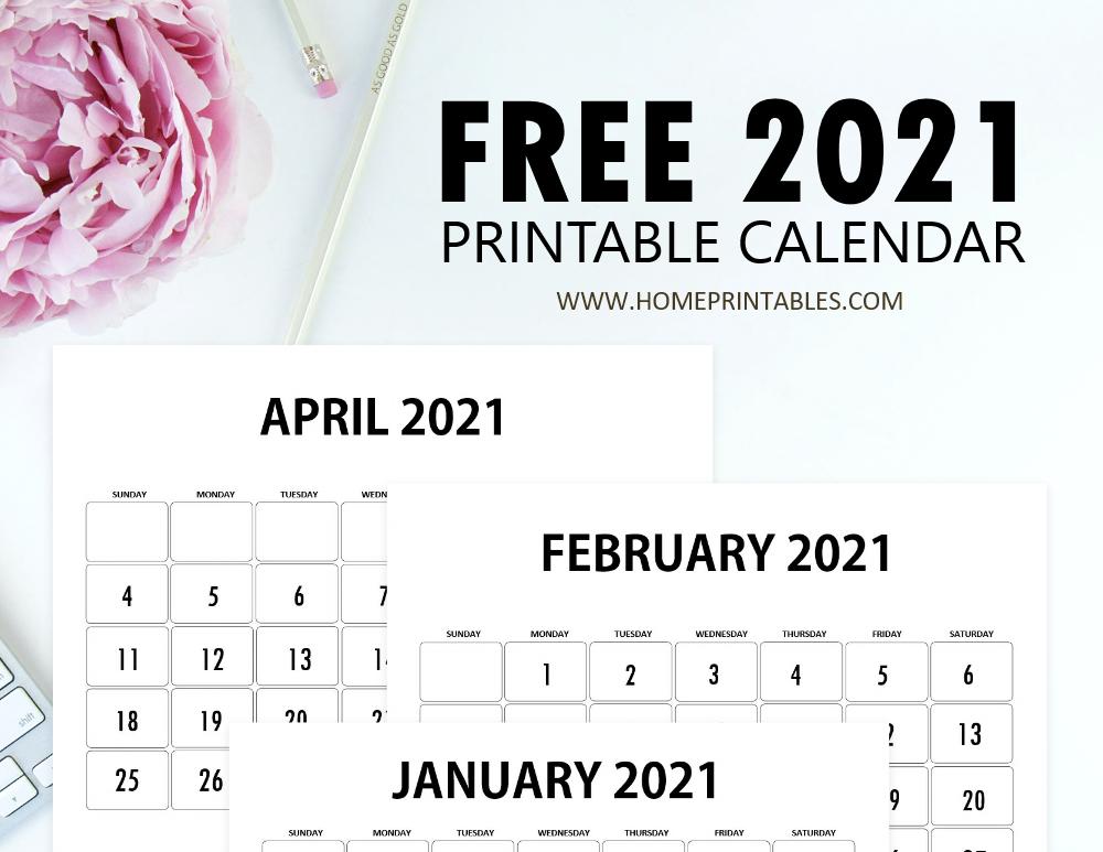 calendar 2021 printable