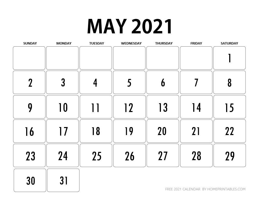 May 2021 Calendar Printable PDF