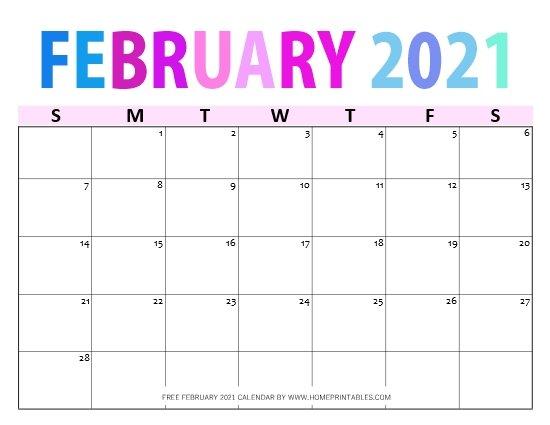 Free Printable February 2021 Calendar in PDF: 11 Best Designs!