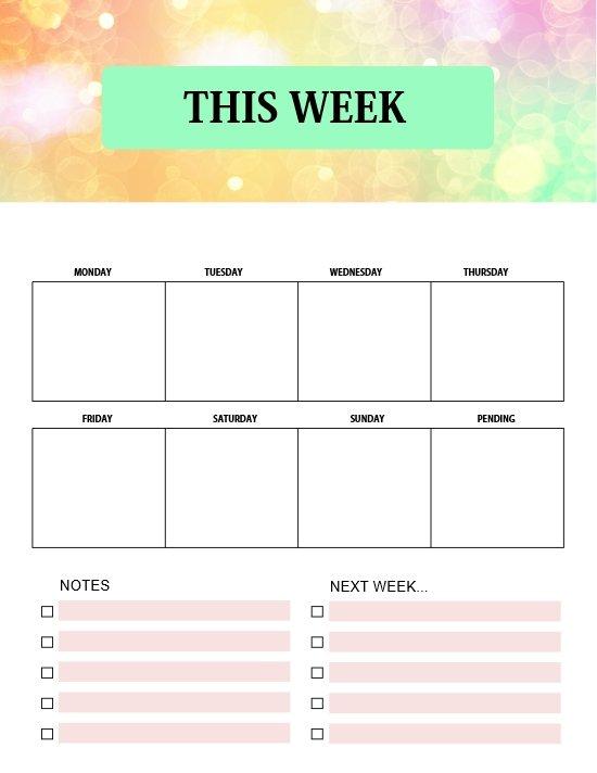 weekly planner 2021 printable