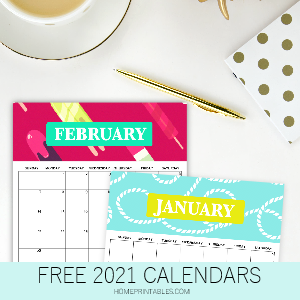 THE CUTEST FREE 2021 CALENDAR!