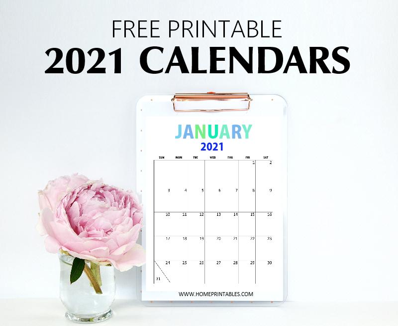 free printable 2021 calendar pdf