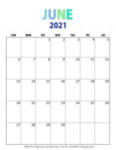 June 2021 calendar pdf printable