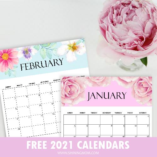 free prdf calendar 2021