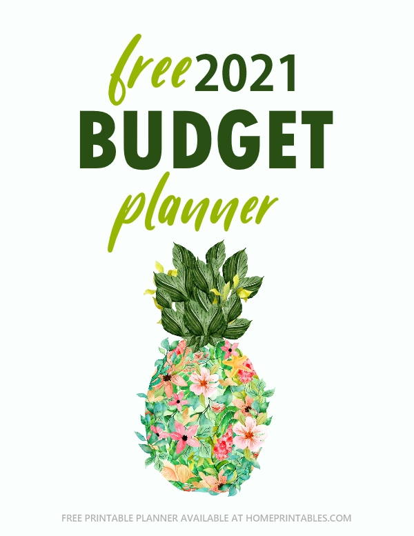 2021 budget planner free printable
