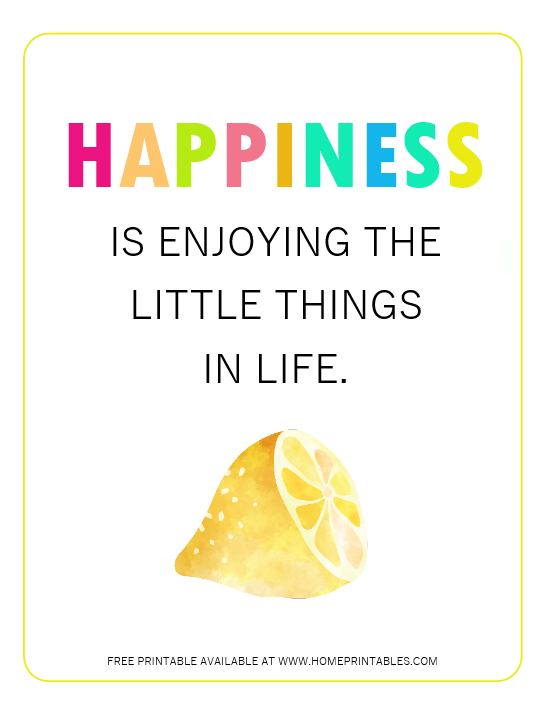 happiness quote printable