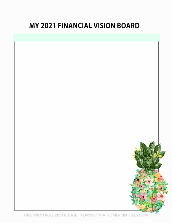 2021 financial vision board