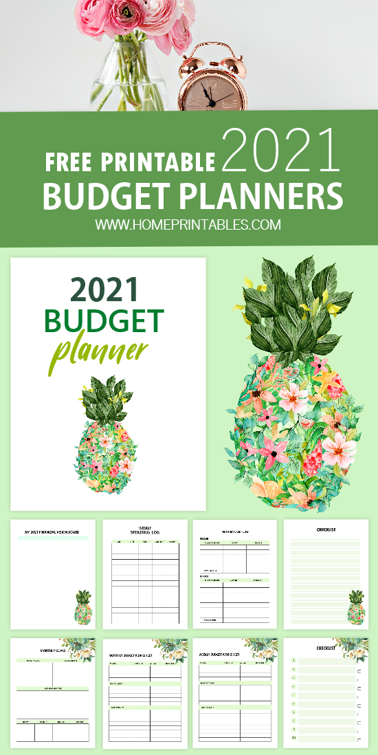 free printable 2021 budget planner