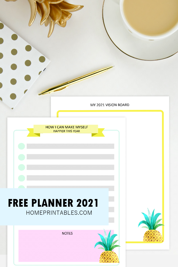 goal-setting planner 2021