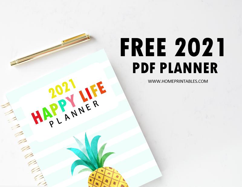 free printable planner 2021 PDF