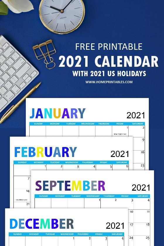 free 2021 calendar holidays