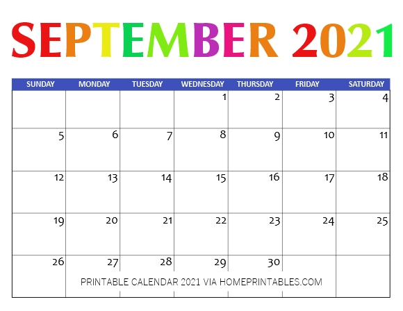 September 2021 CalendarPrintable