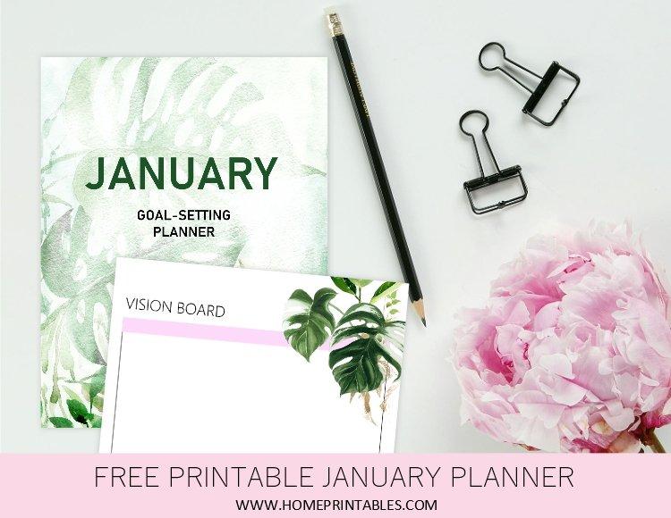 January Planner Printable