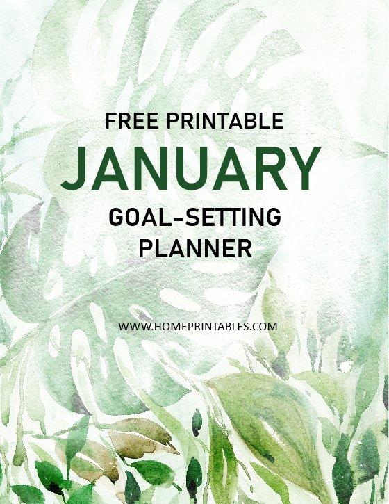 free printable January planner