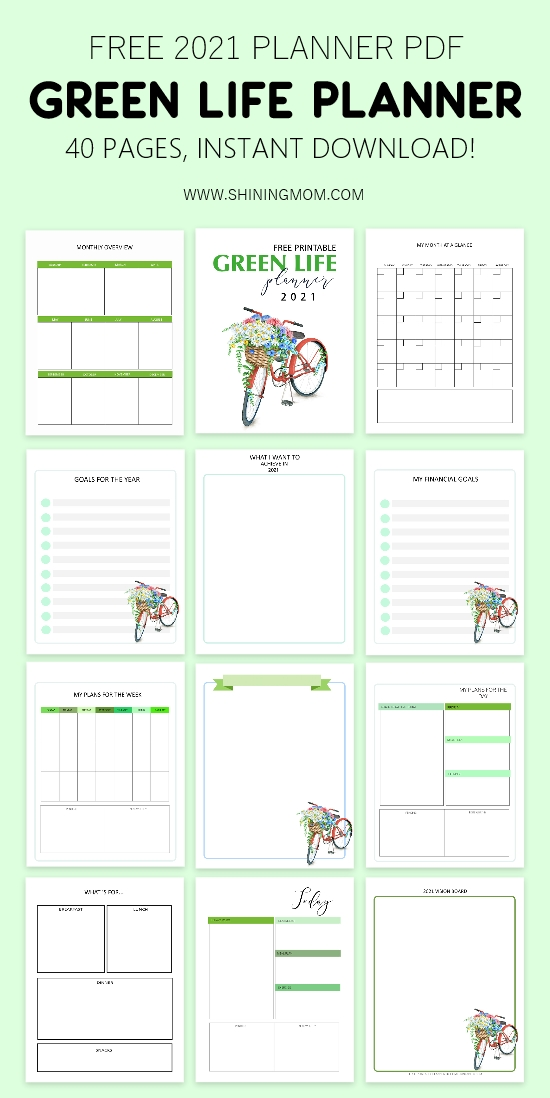 free printable 2021 planner pdf