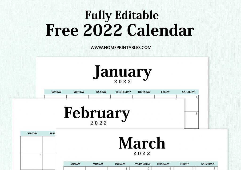 editable 2022 calendar