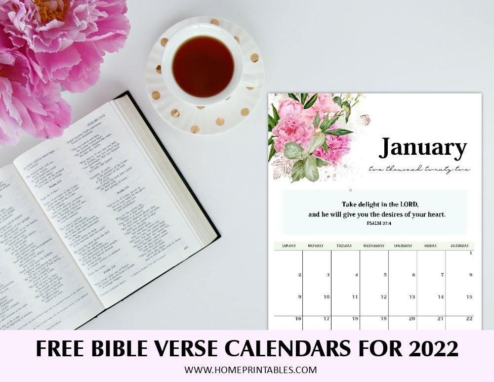 2022 Bible verse calendar